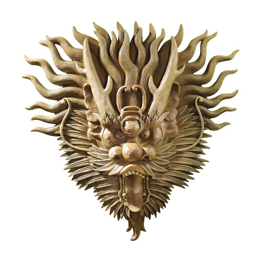 Design Toscano 19-in W x 19-in H Frameless Resin Tibetan Dragon Mask Sculpture Wall Art