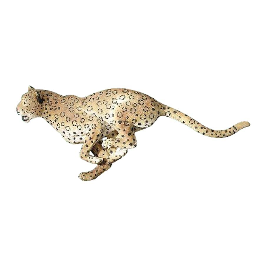 Design Toscano 33.5-in W x 13.5-in H Frameless Resin Charging Cheetah Sculpture Wall Art