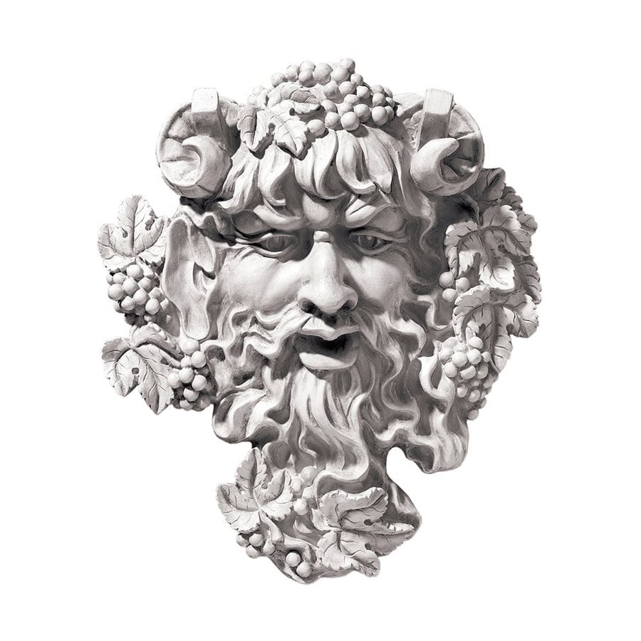 Design Toscano 9-in W x 10-in H Frameless Resin Bacchus God Of Wine Sculpture Wall Art
