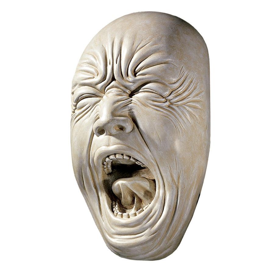 Design Toscano 5-in W x 9.5-in H Frameless Resin Screaming Simon Sculpture Wall Art
