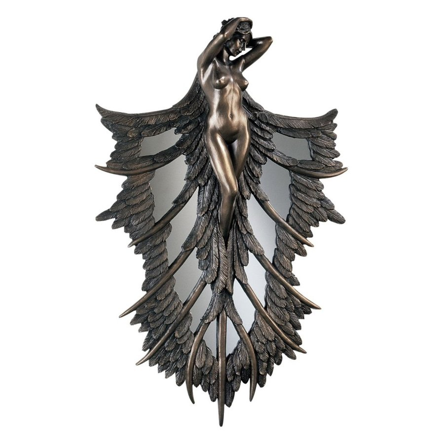 Design Toscano 14-in W x 22-in H Frameless Resin Angelic Wings Of Nature Sculpture Wall Art