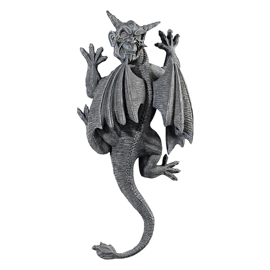 Design Toscano 9-in W x 18-in H Frameless Resin Gargoyle Demon On The Loose Sculpture Wall Art