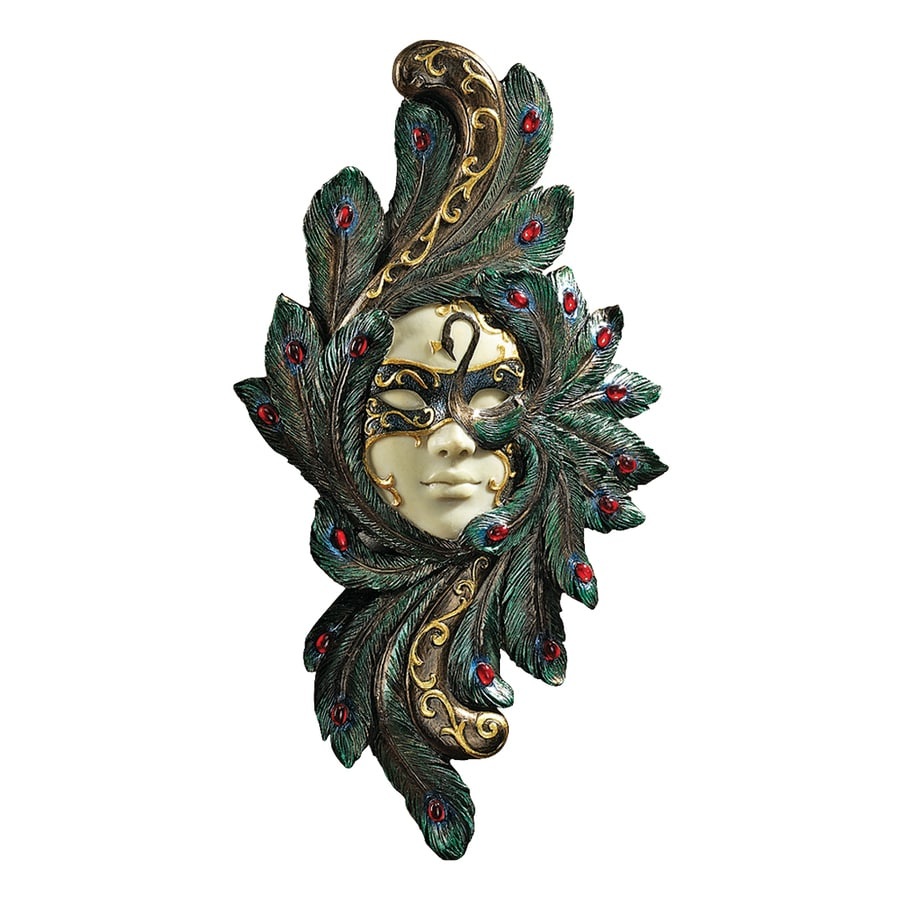 Design Toscano 7-in W x 14-in H Frameless Resin Masquerade At Carnivale Countess Barletta Mask Sculpture Wall Art