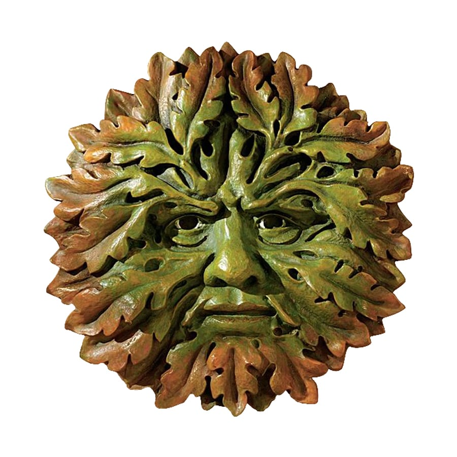 Design Toscano 8.5-in W x 8.5-in H Frameless Resin Somerset Green Man Sculpture Wall Art
