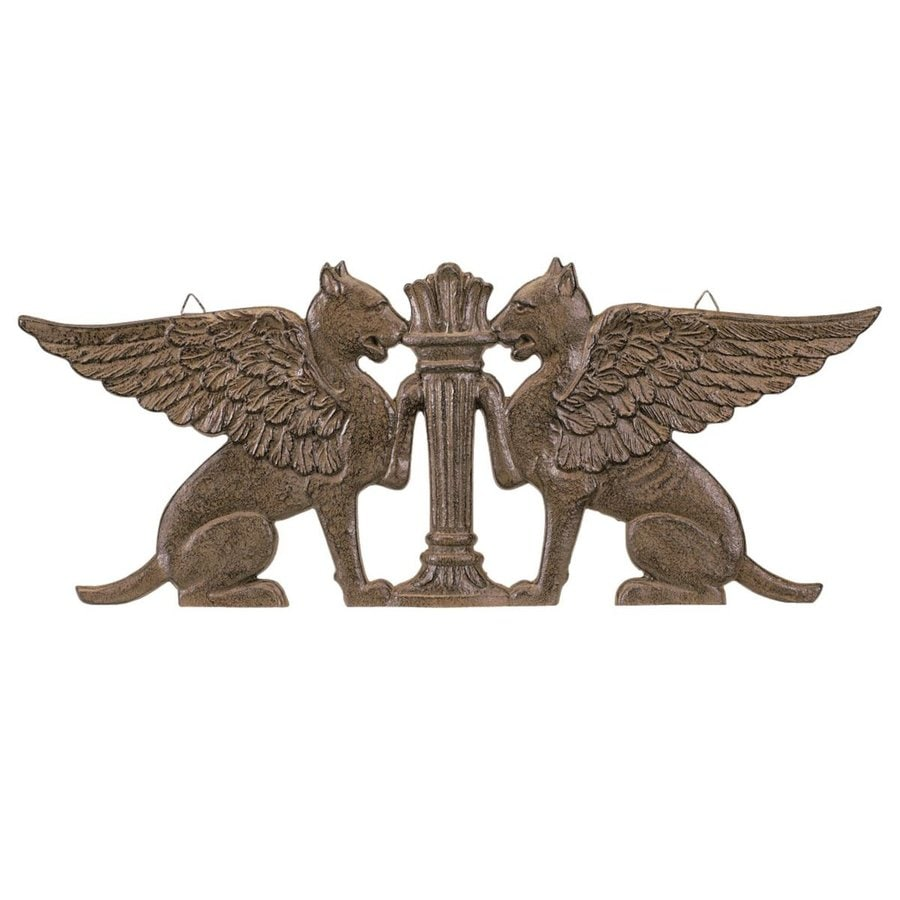 Design Toscano 24-in W x 9.5-in H Frameless Metal Griffins Sculpture Wall Art