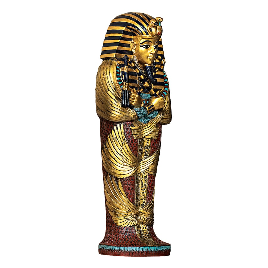 Design Toscano 4-in W x 12-in H Frameless Resin Icons Of Ancient Egypt- King Tut Sculpture Wall Art