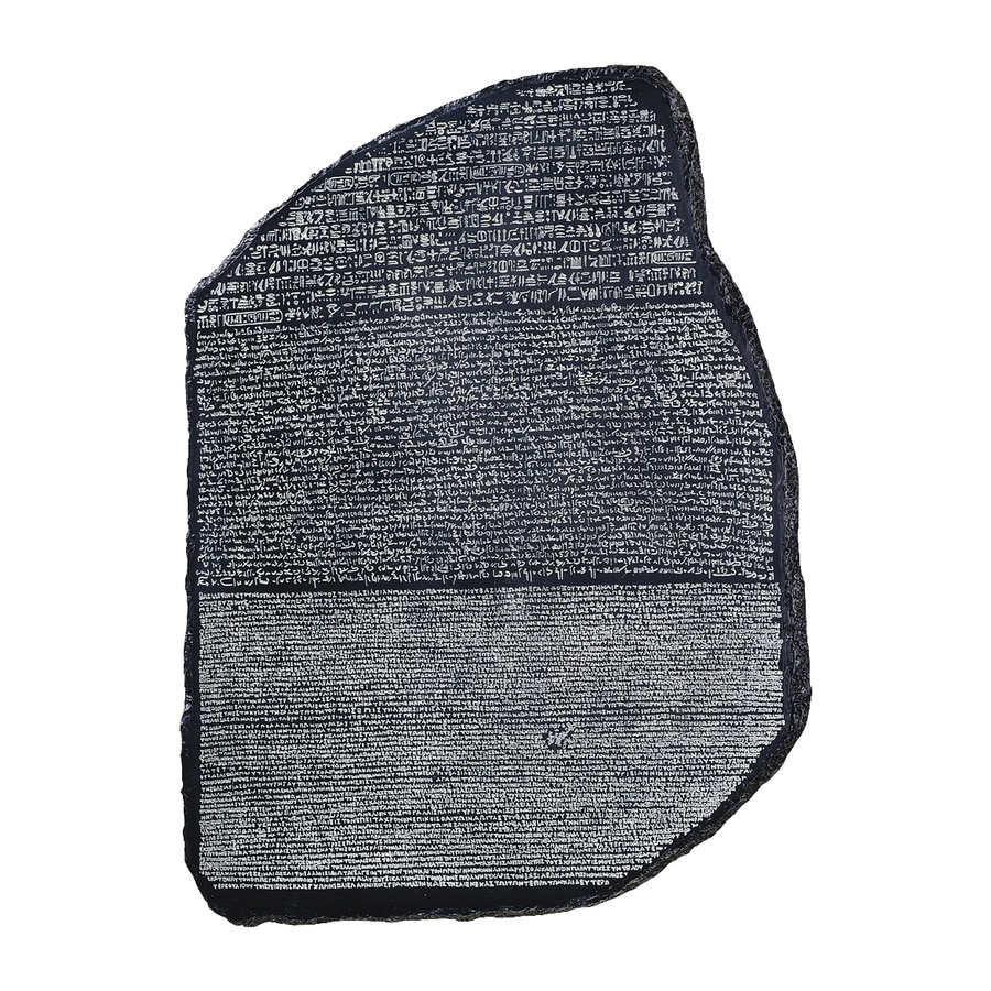 Design Toscano 9-in W x 10.5-in H Frameless Resin Rosetta Stone Sculpture Wall Art