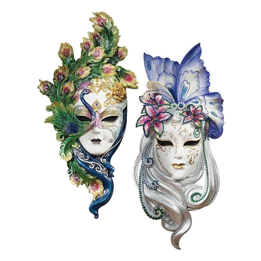 Design Toscano 2-Piece 6.5-in W x 13.5-in H Frameless Resin Masks Of Venice Sculpture Wall Art