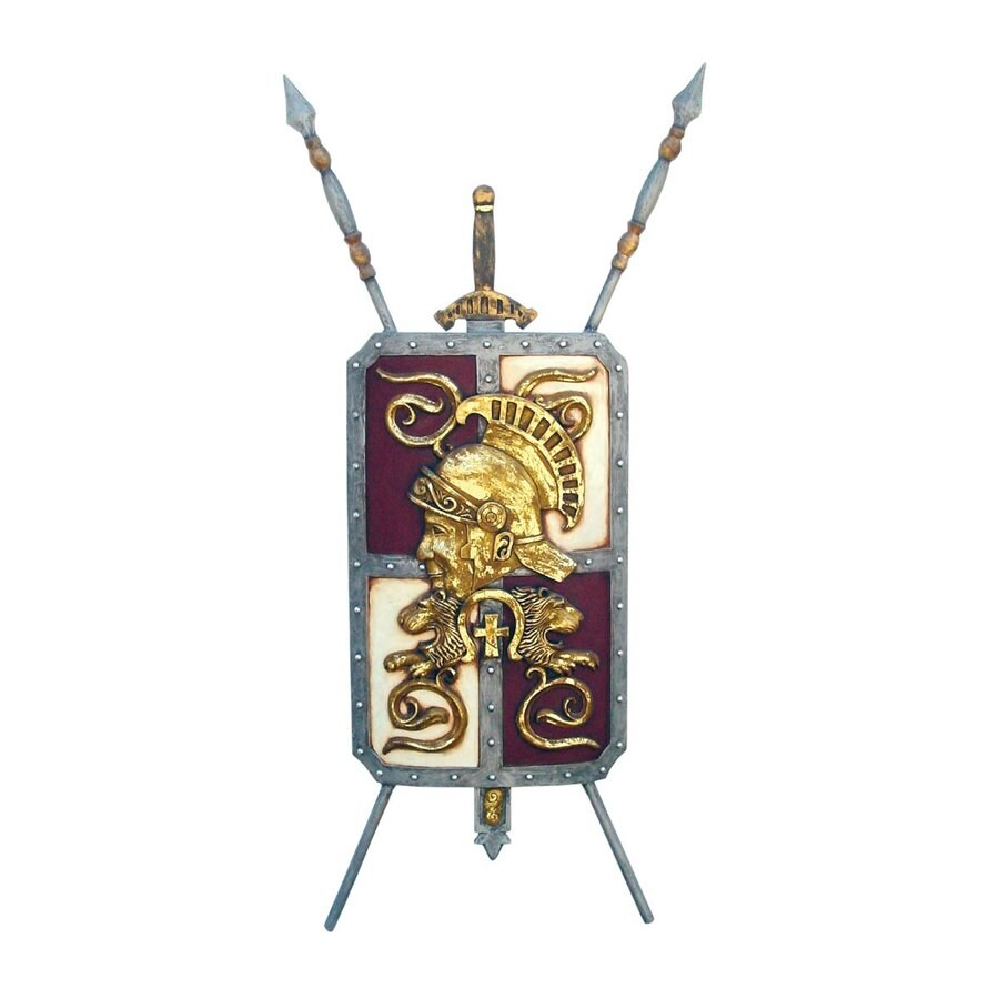 Design Toscano 31.5-in W x 66-in H Frameless Resin Roman Legionaire's Crest Coat Of Arms Shield Sculpture Wall Art