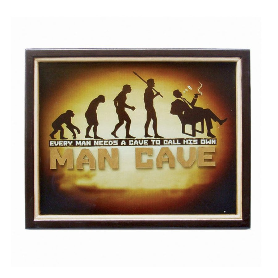 RAM Gameroom Products 20-in W x 16-in H Framed MDF Cave Call His Own Sign Wall Art