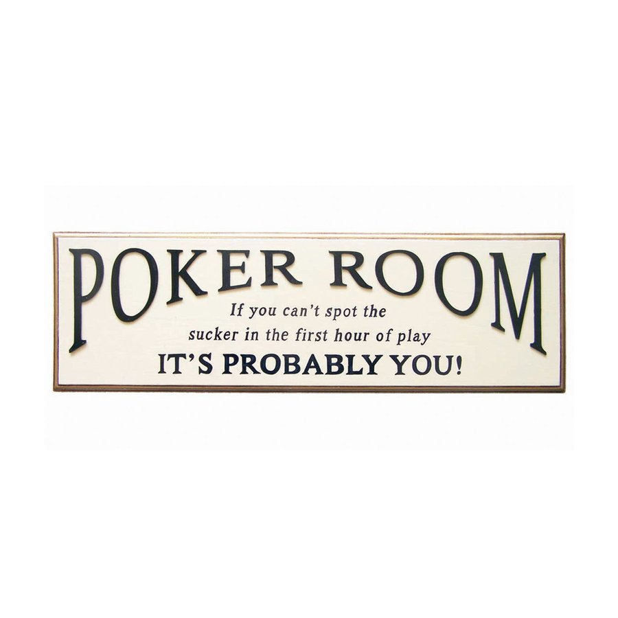RAM Gameroom Products 29.5-in W x 9-in H Frameless MDF Poker Room Sign Wall Art