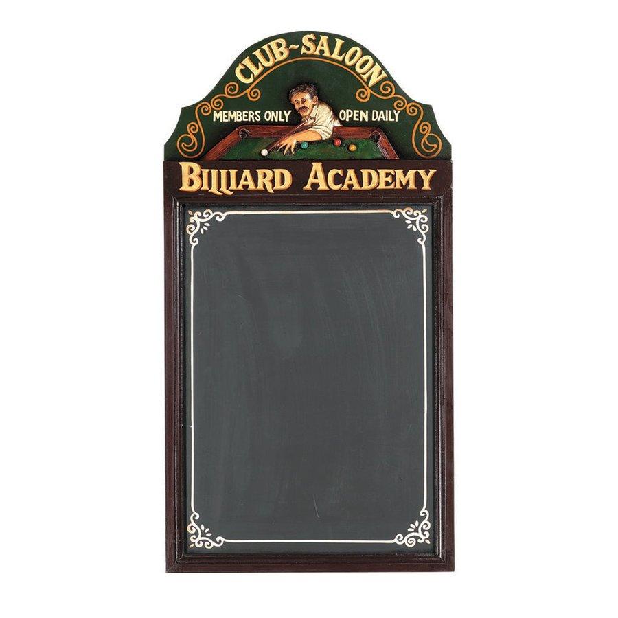 RAM Gameroom Products 16-in W x 29-in H Framed MDF Billiard Academy Chalk Board Sign Wall Art
