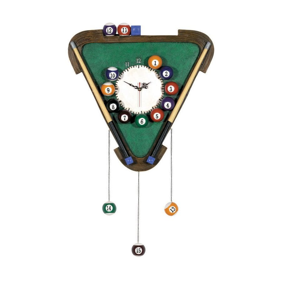 RAM Gameroom Products Billiard Analog Triangle Indoor Wall Clock