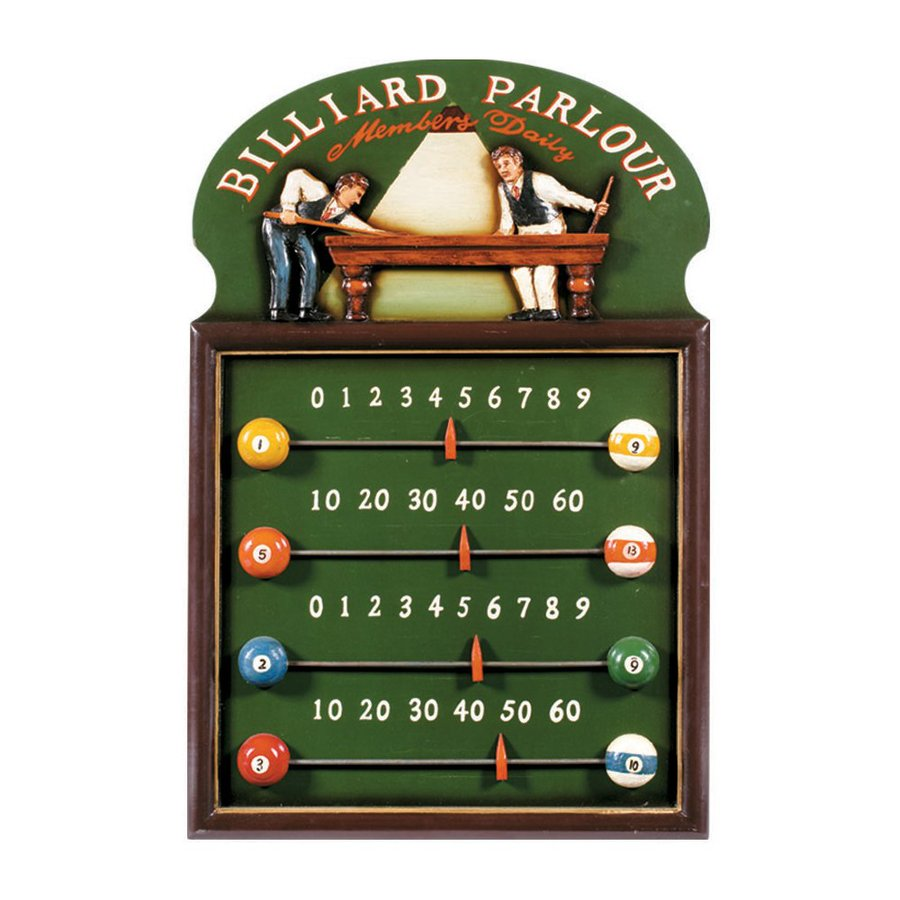 RAM Gameroom Products 16-in W x 24-in H Framed MDF Billiard Parlour Score Keeper Sign Wall Art