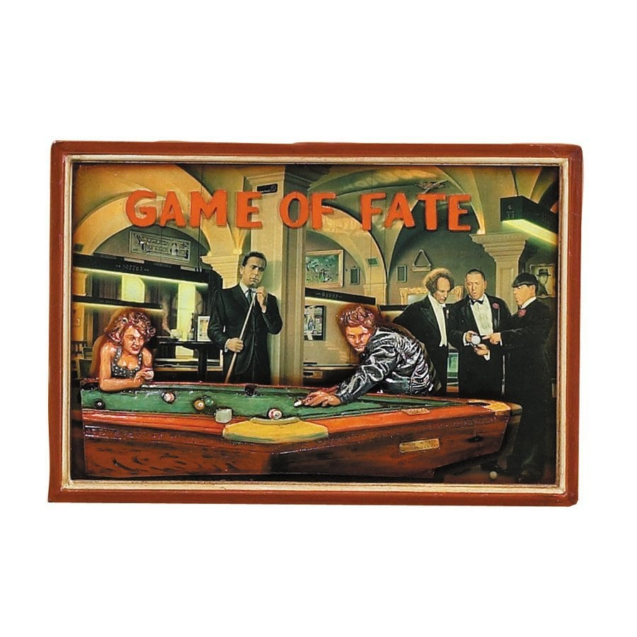 RAM Gameroom Products 24-in W x 16-in H Framed MDF Game Fate Print Wall Art