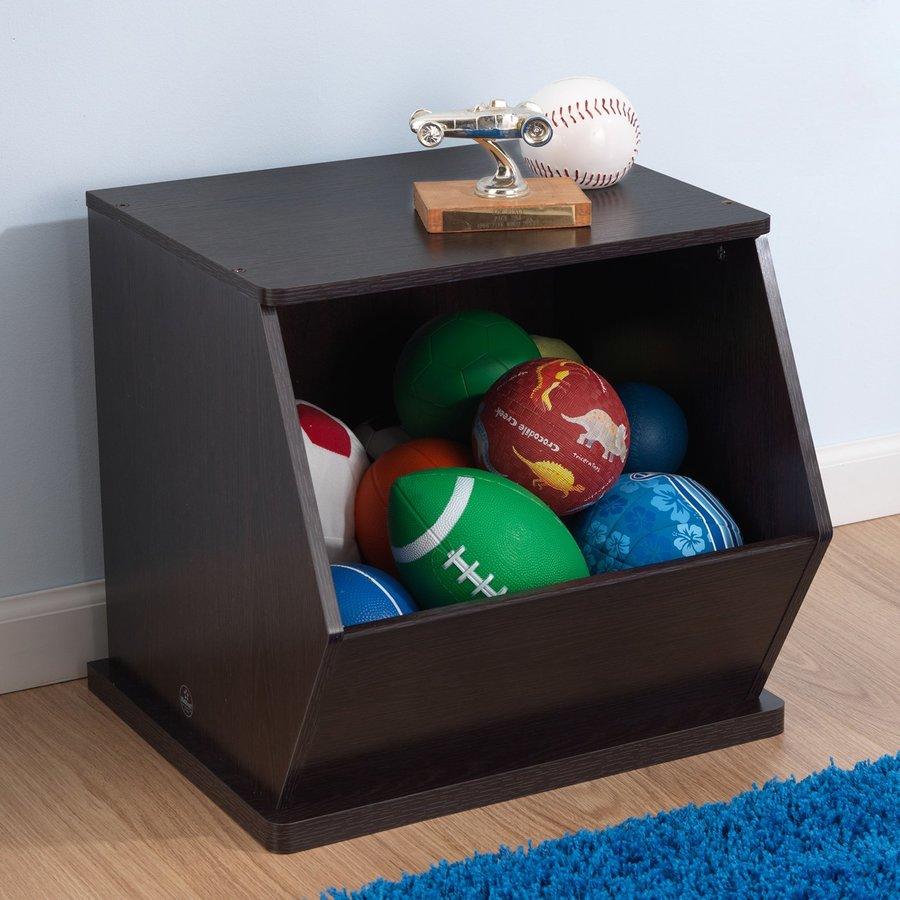 KidKraft Espresso Rectangular Toy Box