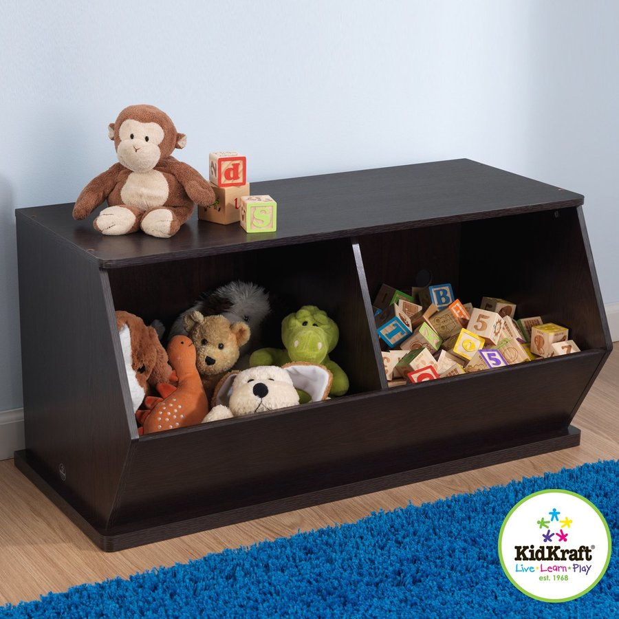 KidKraft Espresso Rectangular Toy Box