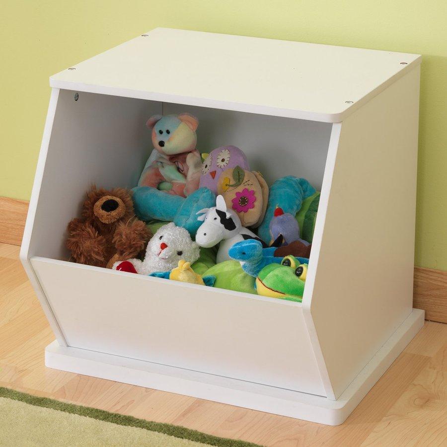 KidKraft White Rectangular Toy Box