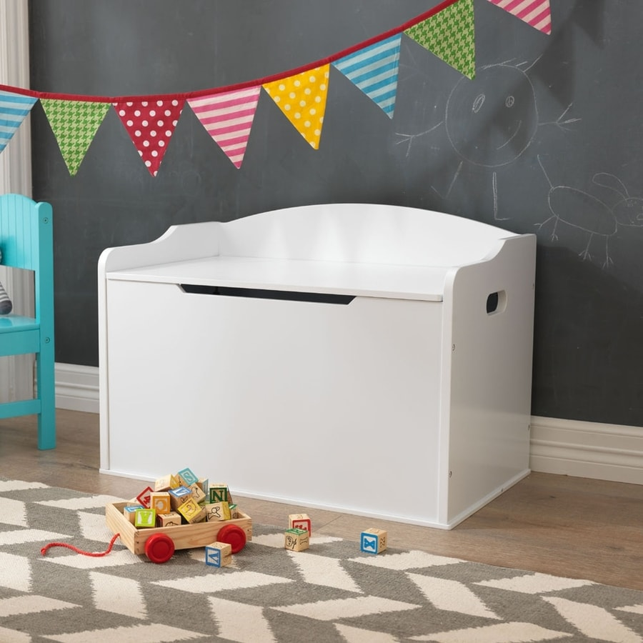 Shop Kidkraft Austin White Rectangular Toy Box At Lowes Com