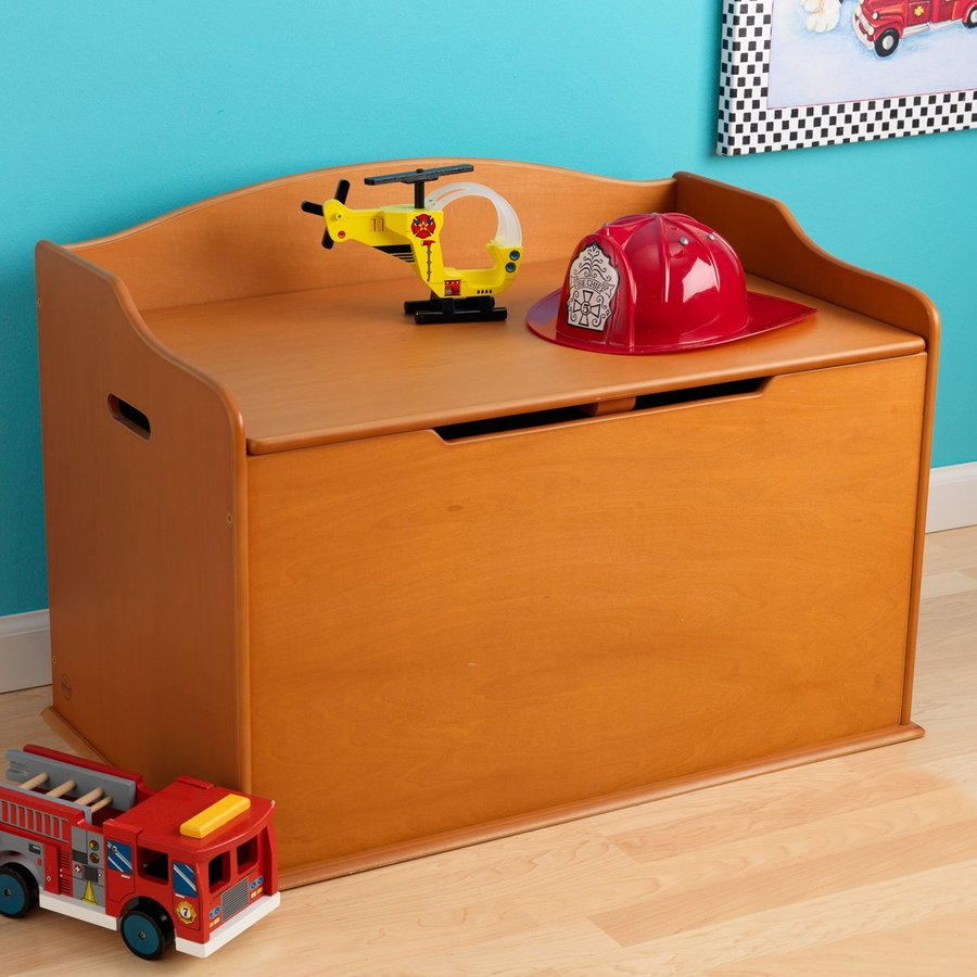 KidKraft Austin Honey Rectangular Toy Box