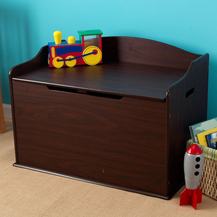 Childrens Jumbo Bedroom Room Tidy Toy Storage Chest Box Trunk: Shop KidKraft Austin Espresso Rectangular Toy Box At Lowes.com