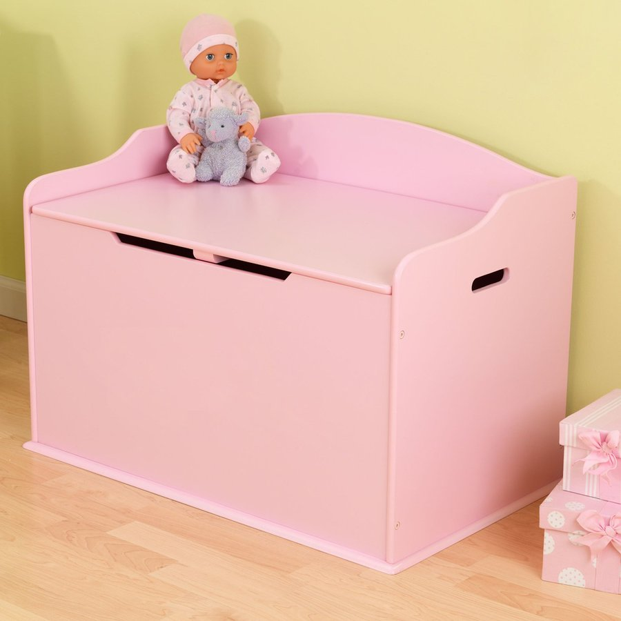 Shop Kidkraft Austin Pink Rectangular Toy Box At Lowes Com