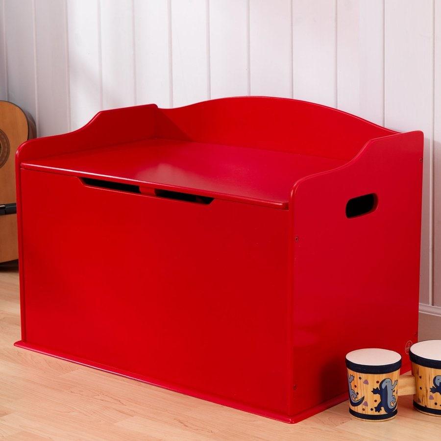 KidKraft Austin Red Rectangular Toy Box