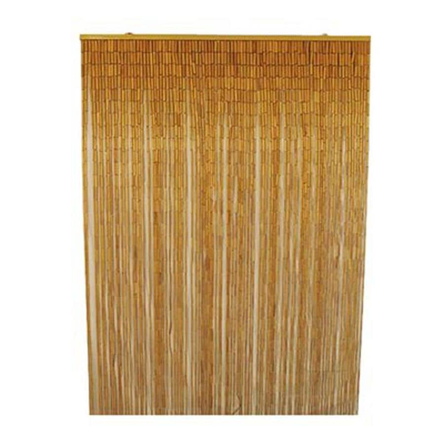 Bamboo 54 80-in L Striped Natural Window Sheer Curtain