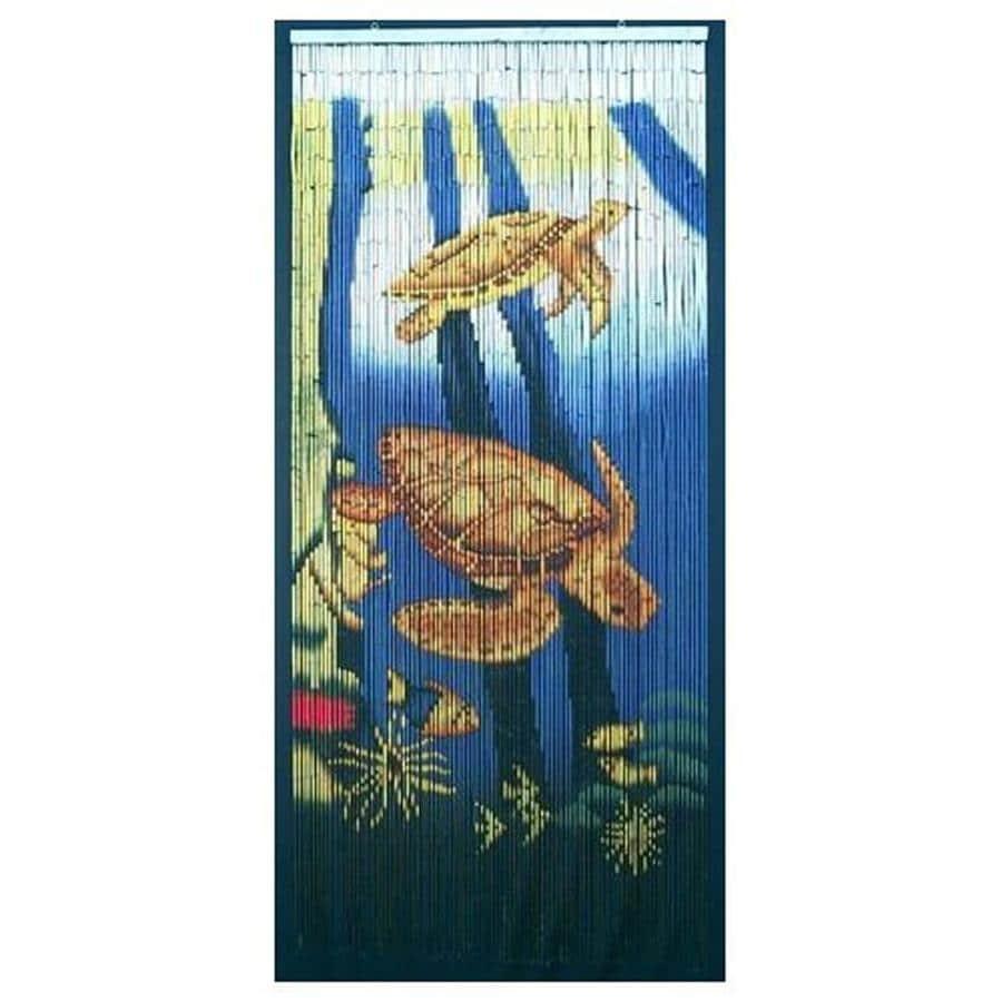 Bamboo 54 Sea Turtle 80-in Bamboo Semi-Sheer Single Curtain Panel