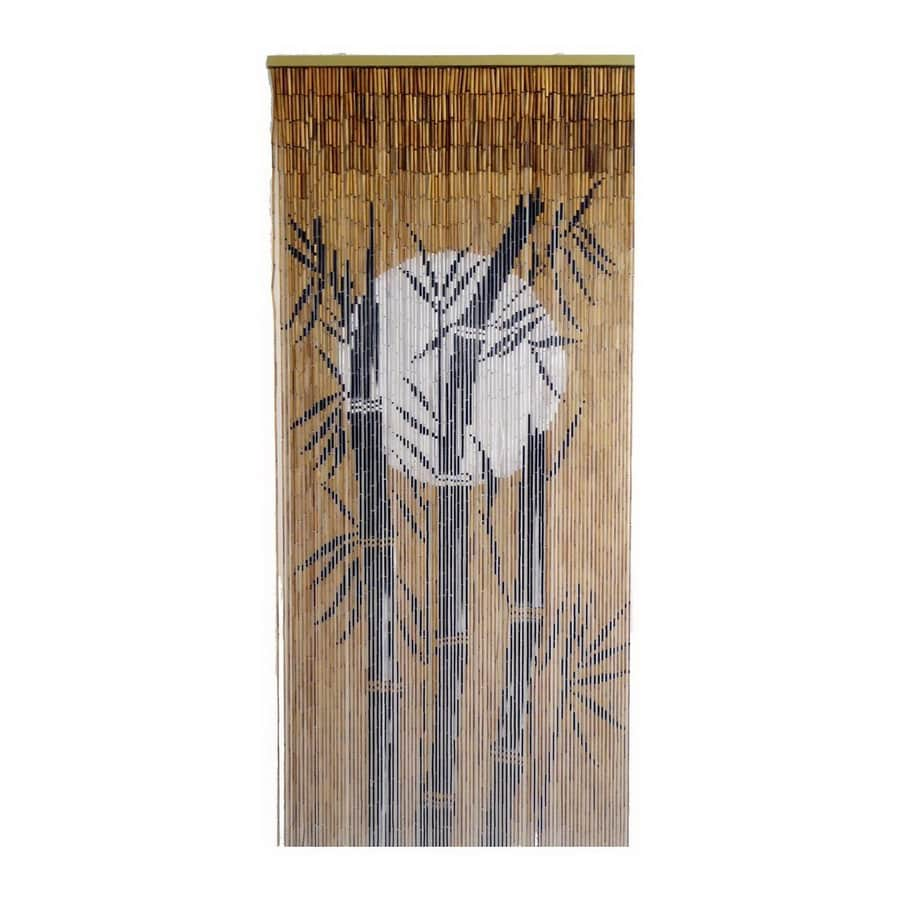 Bamboo 54 Moon 80-in Bamboo Semi-Sheer Single Curtain Panel