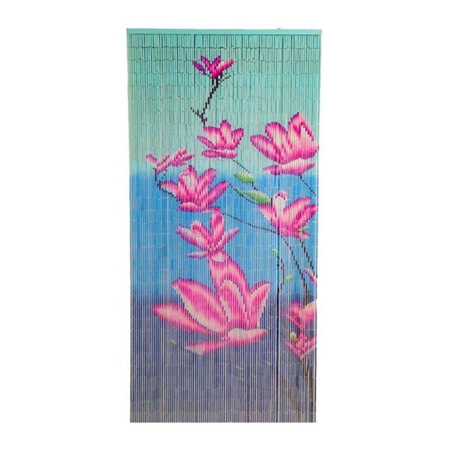 Bamboo 54 Floras 80-in Pink Bamboo Semi-Sheer Single Curtain Panel