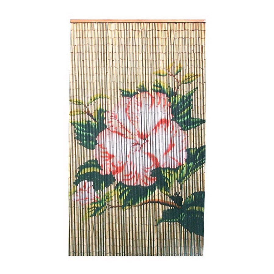 Bamboo 54 Flower 80-in Bamboo Semi-Sheer Single Curtain Panel