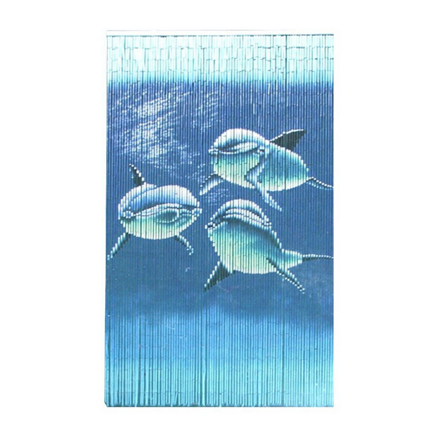 Bamboo 54 Dolphins 80-in Bamboo Semi-Sheer Single Curtain Panel