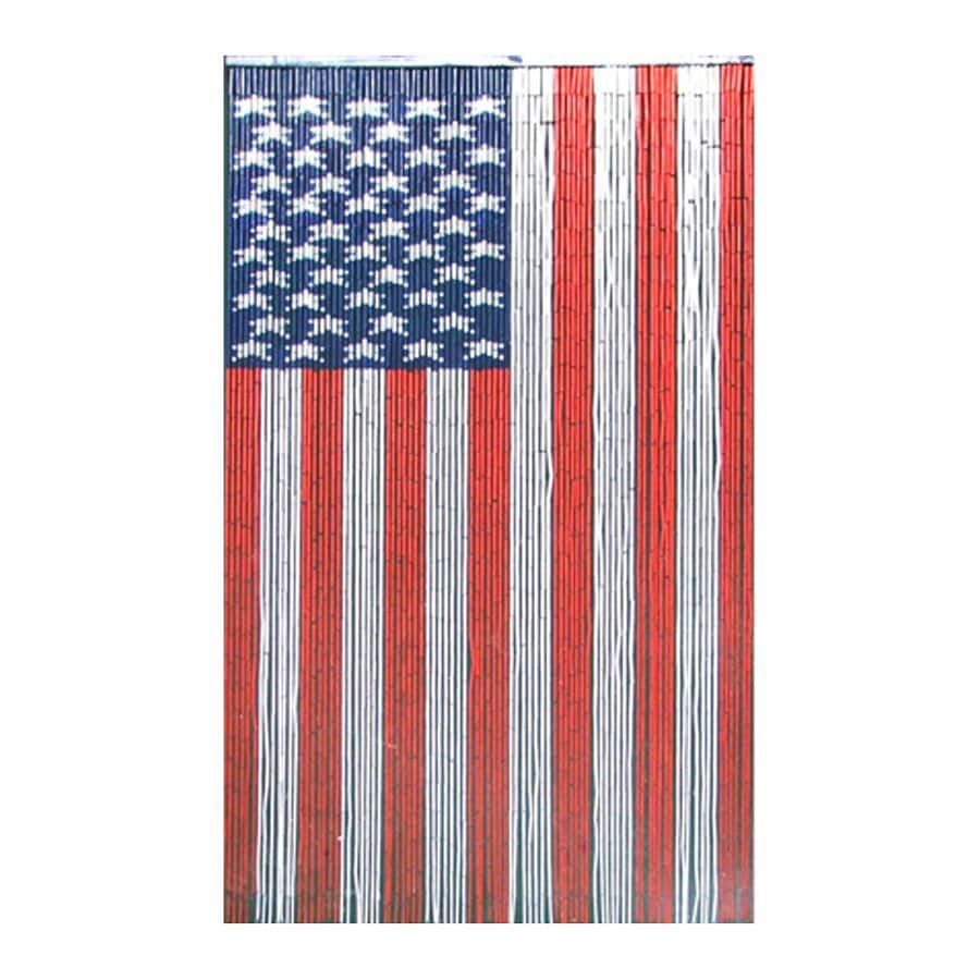 Bamboo 54 American Flag 80 In Red White Blue Rod Pocket Semi