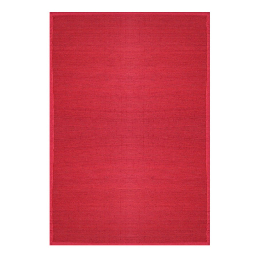Anji Mountain Bamboo Crimson Rectangular Indoor Area Rug (Common: 6 x 9; Actual: 6-ft W x 9-ft L)