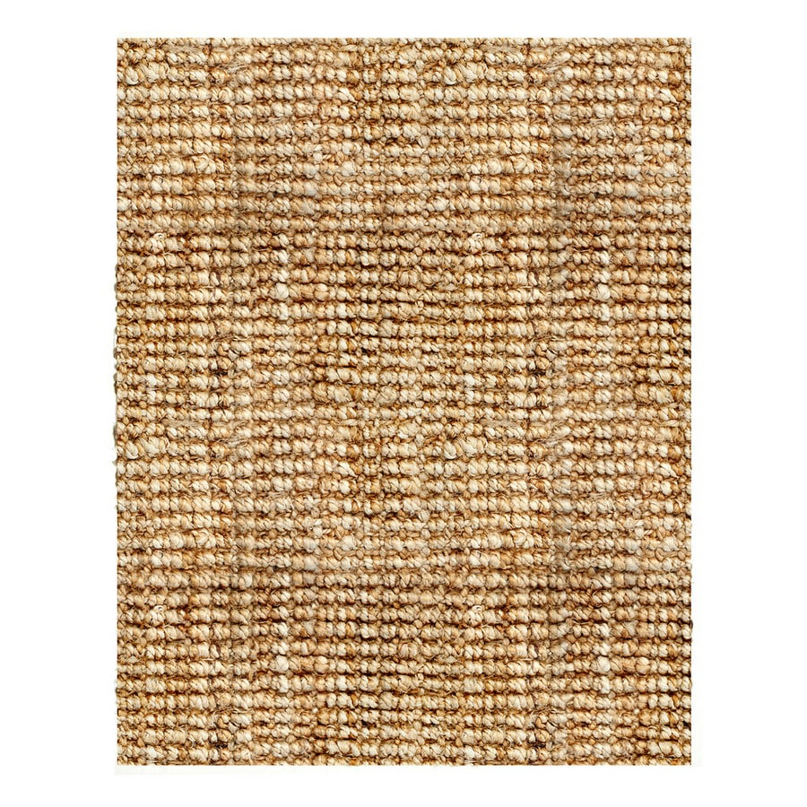 Anji Mountain Natural Boucle Rectangular Indoor Woven Oriental Area Rug (Common: 8 x 10; Actual: 120-in W x 96-in L)