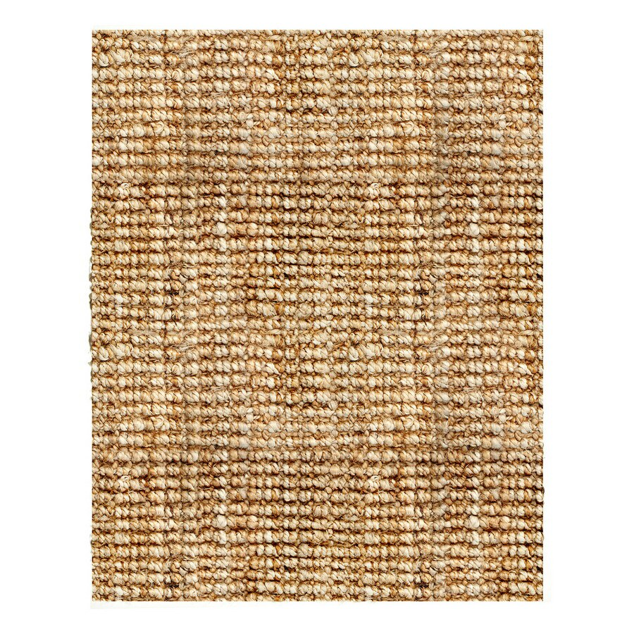 Anji Mountain Natural Boucle Rectangular Indoor Woven Oriental Area Rug (Common: 9 x 12; Actual: 144-in W x 108-in L)
