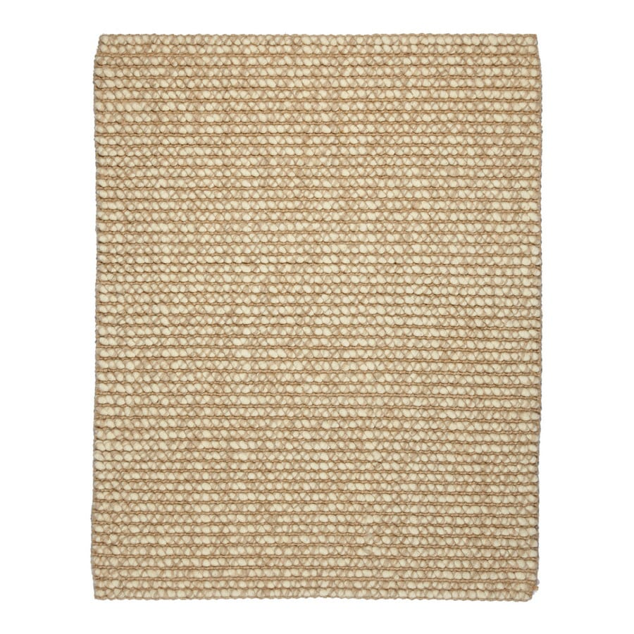 Anji Mountain Jute Rectangular Solid Wool Area Rug (Common: 10-ft x 14-ft; Actual: 10-ft x 14-ft)