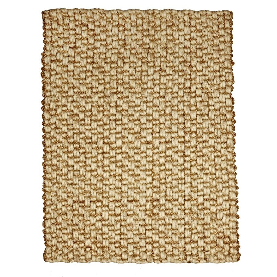 Anji Mountain Beige Rectangular Indoor Woven Oriental Area Rug (Common: 4 x 6; Actual: 48-in W x 72-in L)