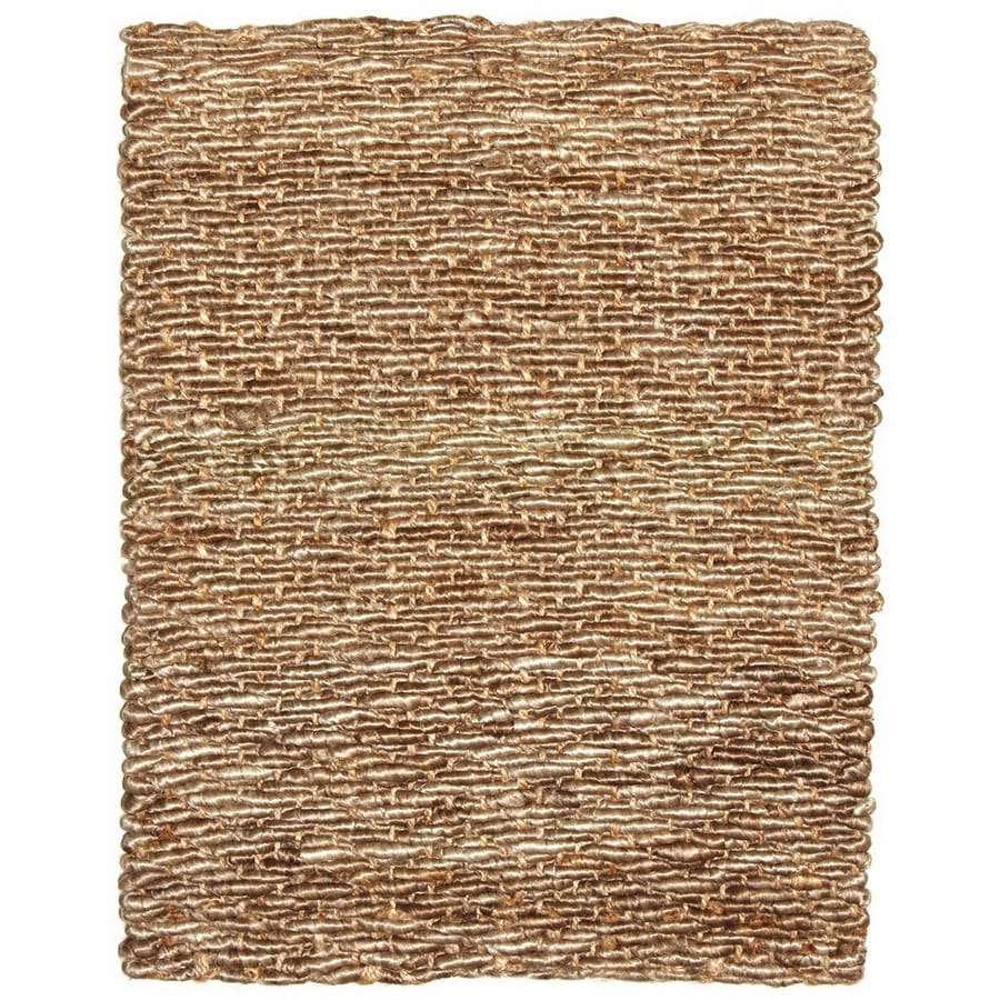 Anji Mountain Wool/Jute 36-in x 60-in Rectangular Beige  Rug