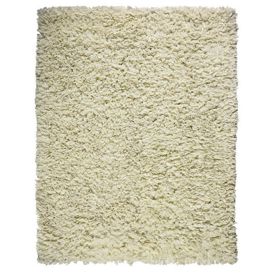 Anji Mountain Paper Shag Rectangular Cream Solid Area Rug (Common: 8-ft x 10-ft; Actual: 8-ft x 10-ft)