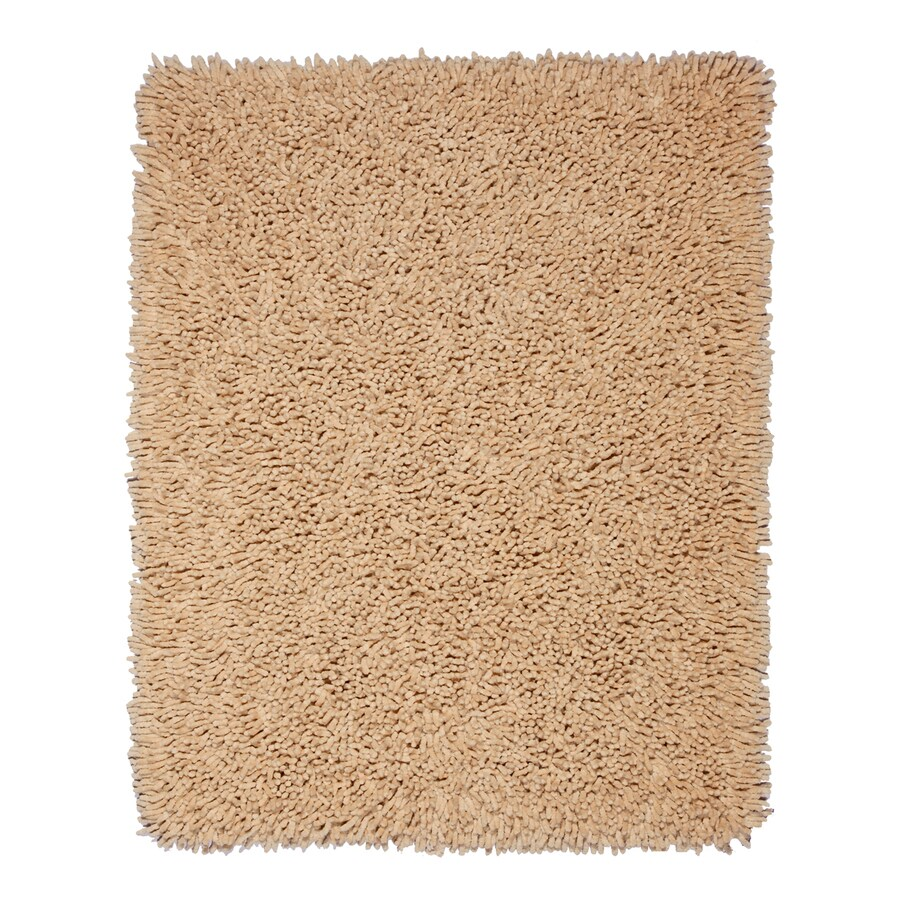 Anji Mountain Silky Shag Beige Rectangular Indoor Shag Area Rug (Common: 8 x 10; Actual: 8-ft W x 10-ft L)