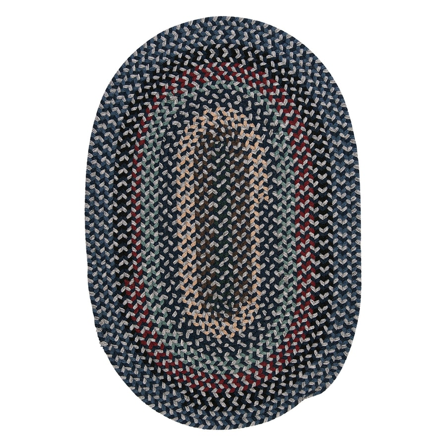 Colonial Mills Boston Common Winter Blues Oval Indoor Braided Throw Rug (Common: 2 x 4; Actual: 2-ft W x 4-ft L)