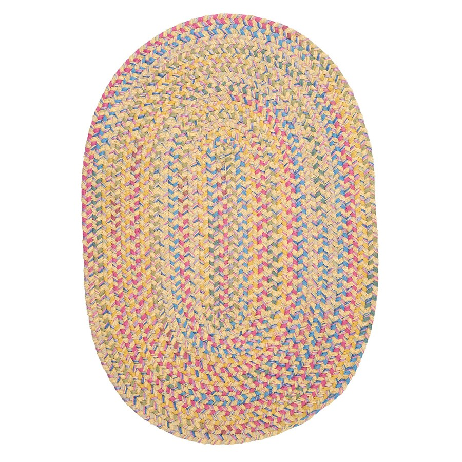 Colonial Mills Botanical Isle Banana Oval Indoor Braided Throw Rug (Common: 2 x 4; Actual: 24-in W x 48-in L)