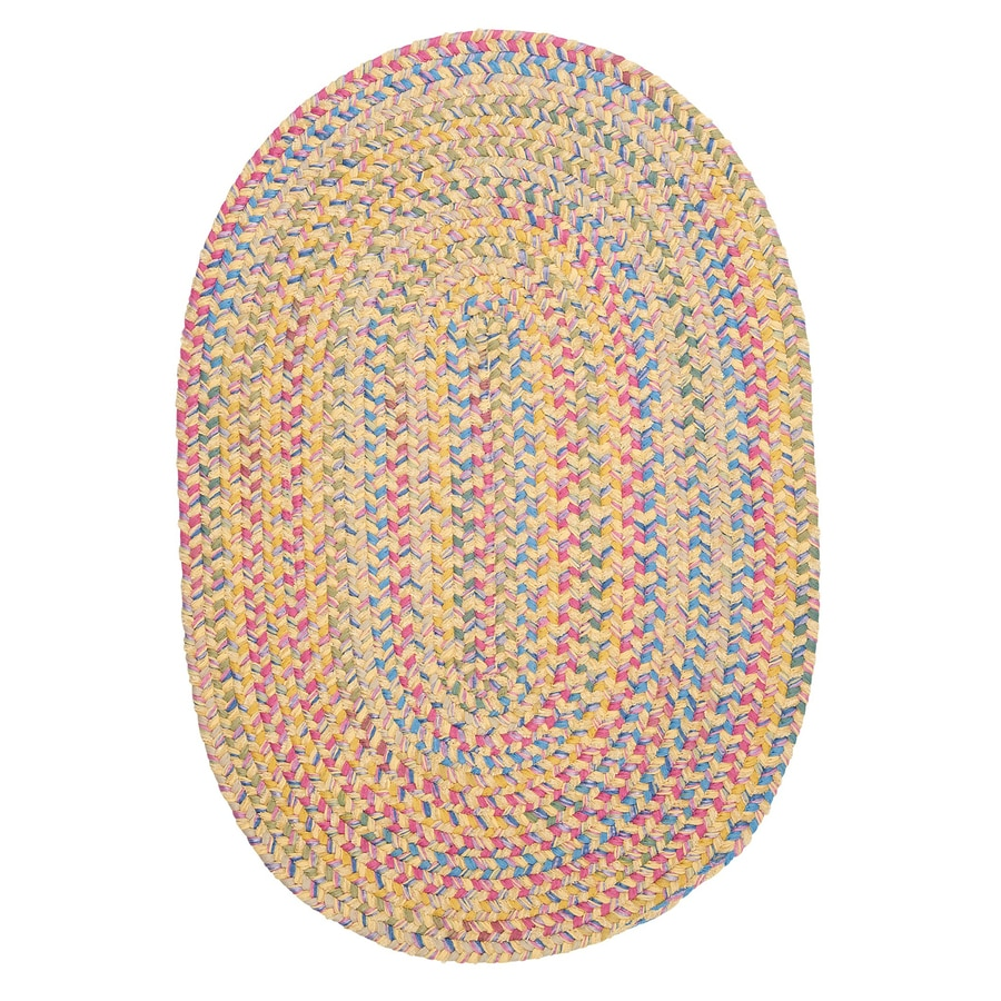 Colonial Mills Botanical Isle Banana Oval Indoor Braided Throw Rug (Common: 3 x 5; Actual: 3-ft W x 5-ft L)