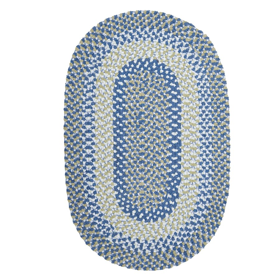 Colonial Mills Blokburst Blueberry Pie Oval Indoor Braided Throw Rug (Common: 2 x 3; Actual: 24-in W x 36-in L)