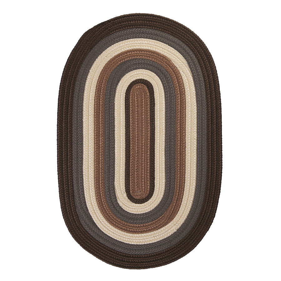 Colonial Mills Brooklyn Brownstone Oval Indoor/Outdoor Braided Area Rug (Common: 5 x 8; Actual: 60-in W x 96-in L)