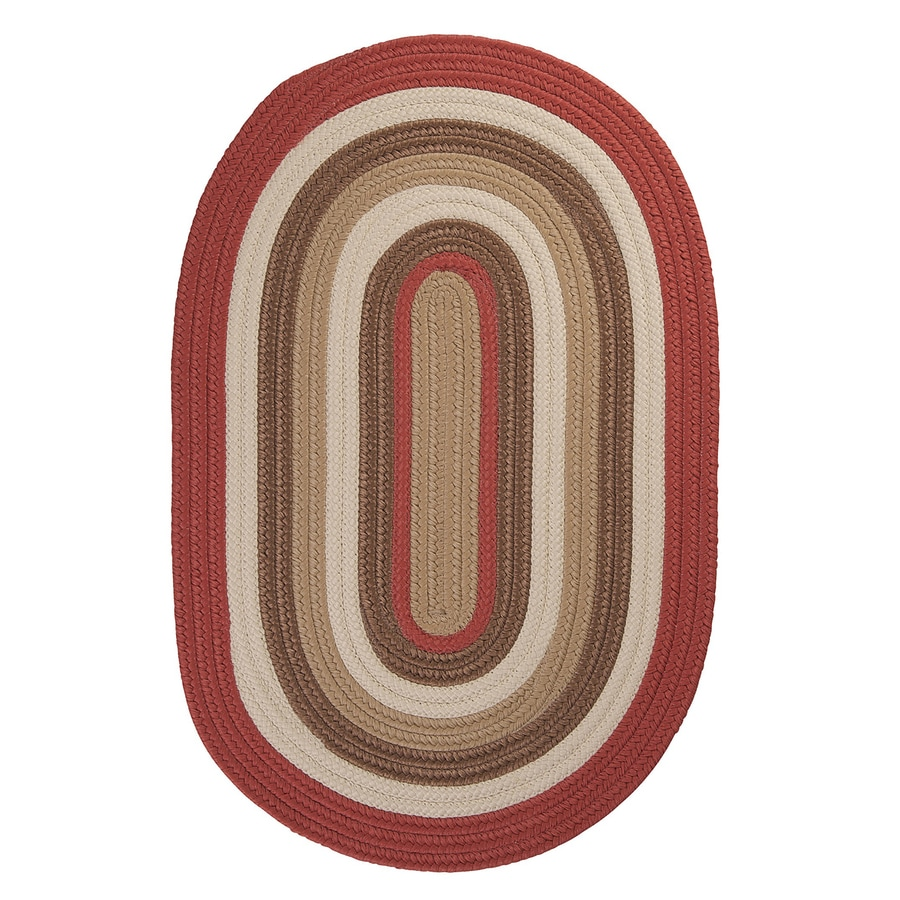 Colonial Mills Brooklyn Terracotta Oval Indoor/Outdoor Braided Area Rug (Common: 7 x 9; Actual: 84-in W x 108-in L)
