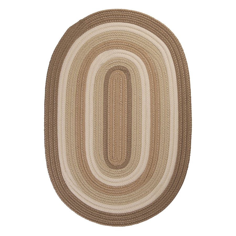 Colonial Mills Brooklyn Natural Oval Indoor/Outdoor Braided Throw Rug (Common: 3 x 5; Actual: 3-ft W x 5-ft L)