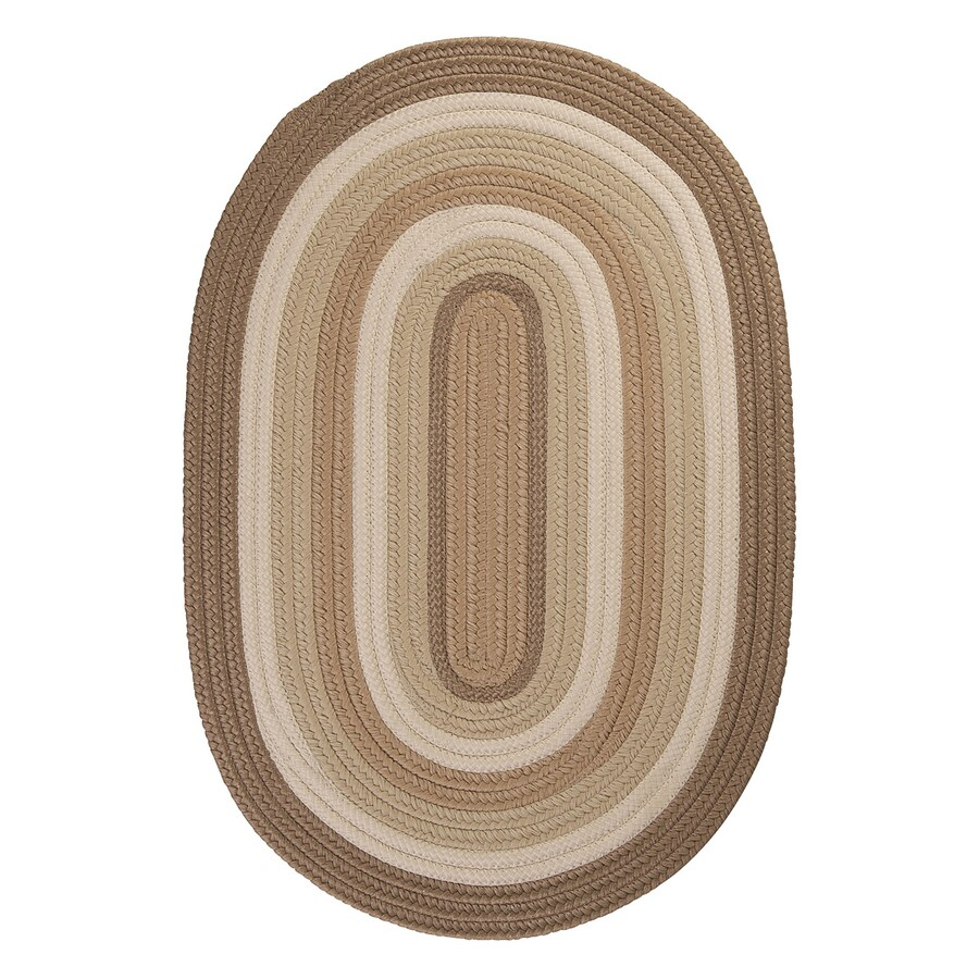 Colonial Mills Brooklyn Natural Oval Indoor/Outdoor Braided Area Rug (Common: 7 x 9; Actual: 7-ft W x 9-ft L)